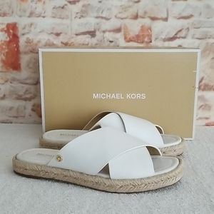 New Michael Kors Linden Slide Flat Sandals